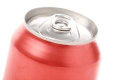 Latta di soda in bianco rossa Immagini Stock