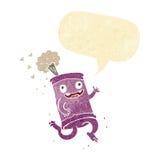 latta di soda pazza del fumetto con il fumetto Fotografia Stock