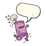latta di soda pazza del fumetto con il fumetto Immagini Stock Libere da Diritti