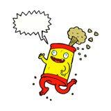 latta di soda pazza del fumetto con il fumetto Immagini Stock