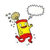 latta di soda pazza del fumetto con il fumetto Immagine Stock