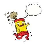 latta di soda pazza del fumetto con la bolla di pensiero Immagine Stock