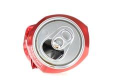 Latta di soda rossa Immagini Stock