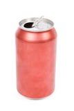 Latta di soda rossa Immagine Stock