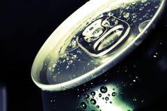 Latta fredda delle bevande, inclinata Fotografie Stock