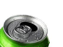 Latta fresca di soda con condensazione fotografia stock libera da diritti