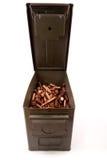 Latta piena delle munizioni immagine stock libera da diritti