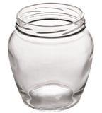 Latta vuota di vetro Fotografia Stock