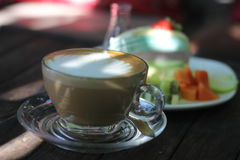Latte咖啡 图库摄影