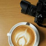 Latte咖啡 免版税库存照片