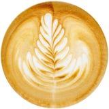 Latte艺术 免版税库存图片