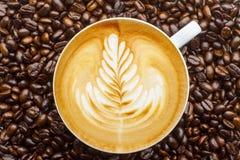 Latte艺术 免版税库存照片