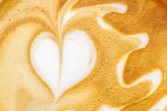 Latte艺术 库存图片