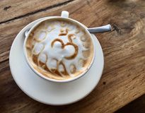 Om Latte. A latte ˈlɑːteɪis a coffee drink made with espresso and steamed milk. Coffee is a brewed drink prepared from roasted coffee beans, which are the Stock Photos