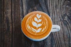 Latte взгляд сверху Стоковая Фотография