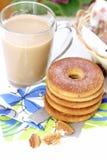 Latte и печенья кофе Стоковые Фотографии RF