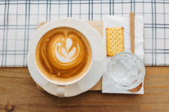 Latte чашки кофе Стоковые Фотографии RF