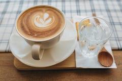 Latte чашки кофе Стоковое Изображение