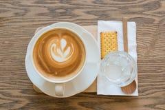 Latte чашки кофе Стоковые Изображения