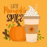 Иллюстрация вектора latte специи тыквы бесплатная иллюстрация