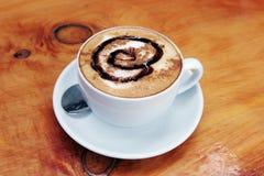 咖啡馆latte 库存图片