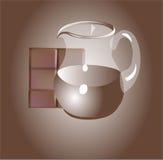 Latte al cioccolato Fotografia Stock