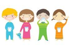 Latte alimentare dei bambini. illustrazione vettoriale