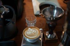 Latte art. Beautyful latte art royalty free stock image