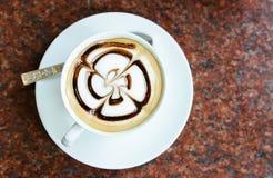 Latte Art Coffee fotografie stock libere da diritti