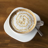 Latte Art Coffee stockfotos