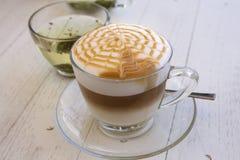 Latte Art Coffee imagenes de archivo