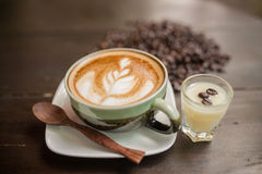 Free Latte Art Coffee Stock Photography - 53821442