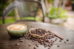 Free Latte Art Coffee Stock Image - 53821581