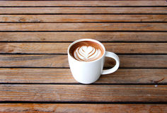 Latte Art Coffee lizenzfreie stockbilder