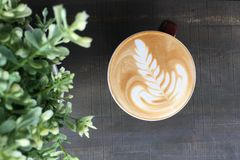 Latte art. The art of coffee Stock Photography
