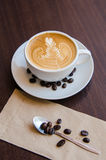 Latte Art Coffee stockfoto