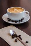Latte Art Coffee lizenzfreies stockbild
