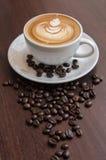 Latte Art Coffee fotografie stock