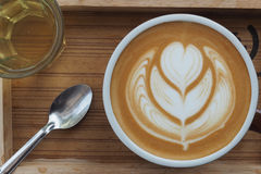 Latte Art Coffee immagine stock