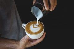 Latte Art Coffee fotografia stock
