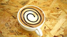 Latte Art Coffee almacen de metraje de vídeo