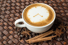 Latte art, coffee cup Stock Image