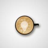 Latte Art Coffee Cup de dessin d'ampoule Image libre de droits