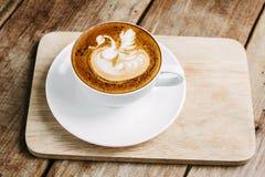 Latte art coffee Stock Image