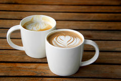 Latte art coffee cup Royalty Free Stock Photography