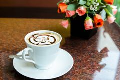 Latte Art Coffee Royalty Free Stock Photo