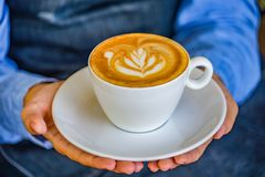 Latte art coffee. stock images