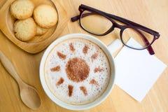Latte art coffee in sun design Stock Images