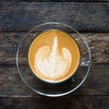 Latte art coffee Royalty Free Stock Photography