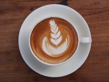 Latte art coffee Stock Photos